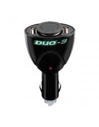 """""""DUO-3"""" priză brichetă masină 12 V cu 2 prize USB - LAMPA - Incarcatoare telefon"""