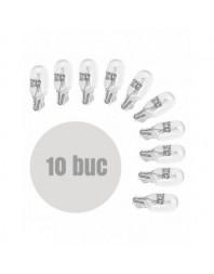Bec de pozitie T10 12V 3W (W3W) Pret / set de 10buc - Carguard - Auxiliare