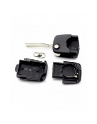 Audi - Carcasa cheie tip briceag, 2 butoane, fara buton panica, cu baterie 2032 - Carguard - Audi