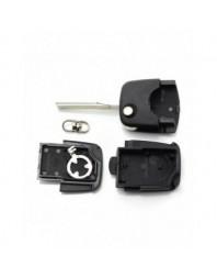 "Audi - Carcasa cheie tip briceag, 2 butoane ""rotunde"", cu baterie 1616 - Carguard - Audi"