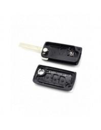 Citroen / Peugeot 307 - Carcasa tip cheie briceag 3 butoane, lama VA2-SH3, cu suport baterie, buton portbagaj - Carguard - Ca...