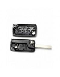 Peugeot 307 - Carcasa tip cheie briceag cu 3 butoane, lama VA2-SH3, fara suport baterie - Carguard - Peugeot