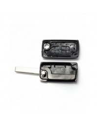 Peugeot 407 - Carcasa tip cheie briceag cu 2 butoane, lama HU83-SH2 fara suport baterie - Carguard - Peugeot