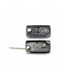 Citroen / Peugeot - Carcasa tip cheie briceag cu 4 butoane si suport baterie, lama tip VA2-SH4 - Carguard - Carcase de chei
