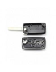 Citroen / Peugeot - Carcasa tip cheie briceag cu 4 butoane, fara suport baterie, lama tip HU83-SH4 - Carguard - Carcase de chei
