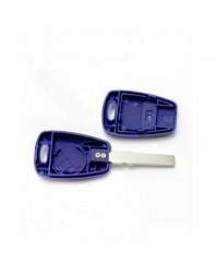 Fiat Carcasa cheie 1 buton, albastru, cu pregatire pt. chip TPX lung (fara logo) - Carguard - Fiat