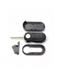 Fiat - Carcasa cheie tip briceag, 3 butoane, negru - Carguard - Fiat