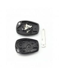 Dacia / Renault - Carcasa cheie cu 3 butoane si suport baterie din inox - - Carcase de chei