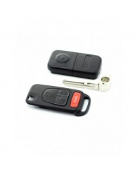 "Mercedes Benz - Carcasa tip cheie briceag cu 3 butoane, buton panica, lama 4 ""piste"" - - Mercedes"