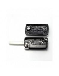 Citroen / Peugeot 307 - Carcasa tip cheie briceag cu 2 butoane, lama VA2-SH2 cu suport baterie - - Carcase de chei