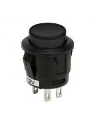 Intrerupator auto Carpoint 12V 20A rotund diametru 16,10mm , buton cu revenire , negru - Carpoint Olanda - Intrerupatoare