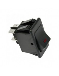 Intrerupator auto Carpoint 12V 35A cu led rosu 20,40 x 35,20mm cu 4 papuci electrici - Carpoint Olanda - Intrerupatoare