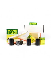 KIT FILTRE MANN AUDI A5 + Cabriolet (8T, 8F) | 07-, 2.0 TDI, 130 KW - Mann Filter - Kit Filtre