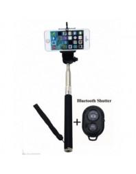 Selfie stick, cu telecomanda Bluetooth , cu suport telefon 50mm-80mm, extensibil pana la 1 metru - Streetwize - Diverse acce...